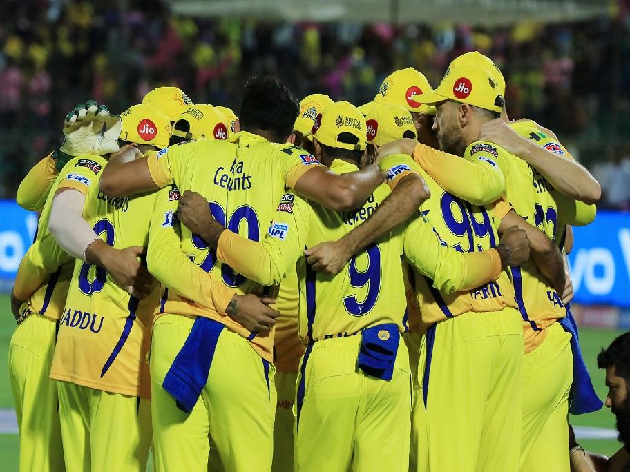 Chennai Super Kings players celebrating